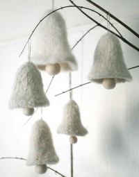 Felted Bell Ornaments from Purl Bee. | Romantic winter