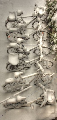 Bicycles in Winter | Romantic winter