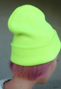 shego shopping mall — [grzxy61800006]Street-chic Style Leisure Pure Fluorescence Color Cap Beanie