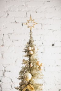 Gold Christmas tree | Winter Inspiration