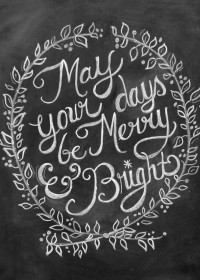 Chalkboard Christmas Card Chalk Art Holiday by ... | Winter Inspirati…