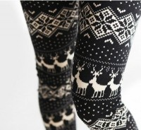 • Christmas pretty winter fashion style hipster indie leggings winter fashion winter leggings indy-child •