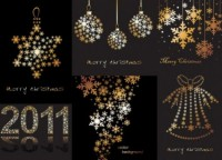 CHRISTMAS / Free vector Vector Christmas christmas decorations snowflakes composed of vector