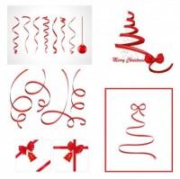 CHRISTMAS / Free vector Vector Christmas christmas ribbon vector