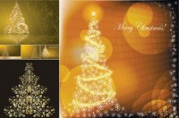 CHRISTMAS / Free vector Vector Christmas golden christmas tree vector