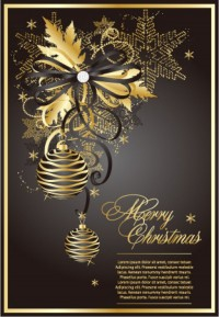 CHRISTMAS / Free vector Vector Christmas golden christmas theme vector 3