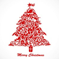 CHRISTMAS / Free vector Vector Christmas graffiti christmas tree vector