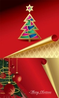 CHRISTMAS / Free vector Vector Christmas roll angle of the christmas card vector