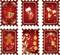 CHRISTMAS / Free vector Vector Christmas vector christmas stamps