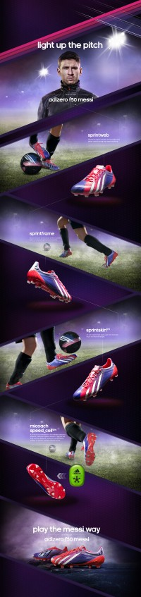 Adidas Team Messi on Web Design Served