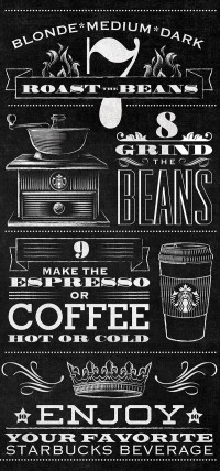 Starbucks Bean to Beverage Typographic Mural | Inspiration DE