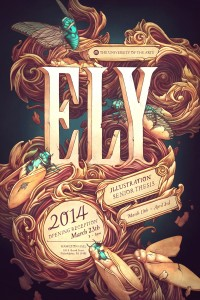 Ely Senior Thesis Poster: fantastic Illustration with type | Inspiration DE