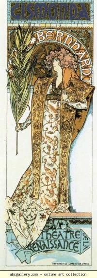 Alphonse Mucha. Gismonda - Olga's Gallery