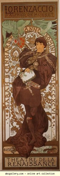 Alphonse Mucha. Lorenzaccio - Olga's Gallery