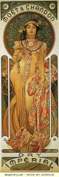 Alphonse Mucha. Moët & Chandon - Dry Impérial - Olga's Gallery