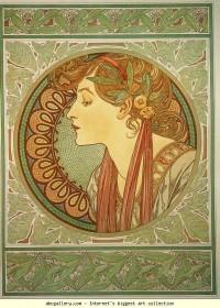 Alphonse Mucha. Laurel - Olga's Gallery