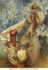 Alphonse Mucha. Madonna of the Lilies - Olga's Gallery