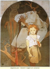 Alphonse Mucha. Lotery of National Unity - Olga's Gallery