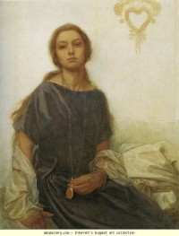 Alphonse Mucha. Portrait of Jaroslava - Olga's Gallery