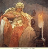 Alphonse Mucha. Woman with a Burning Candle - Olga's Gallery