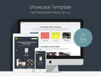 Flat Responsive Showcase PSD Vol 2 - FreebiesXpress
