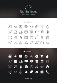 Tab Bar Icons iOS 7 Vol 4 - FreebiesXpress