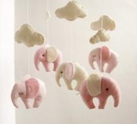 Baby Crib Mobile Elephant Gentel Decor New Born by sistersdreams
