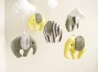 Elephant Baby Mobile Crib Decor New Born by sistersdreams on Etsy