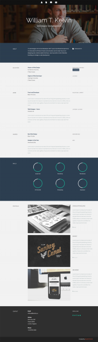 Kelvin – Resume Theme | Black Tie - Free Handsome Bootstrap Themes