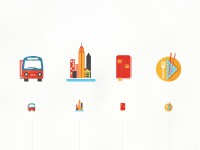 Int'l travel icons in the works by kellianderson