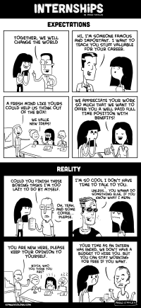 Internships: Expectation vs. Reality [COMIC] | Inspiration DE