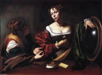 Caravaggio-_The-Conversion-of-Mary-Magdalen-also-known-as-Martha-and-Mary-Magdalen-_.JPG (951×700)