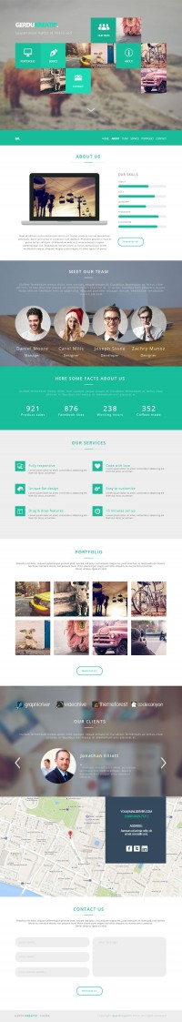 GerduKreatip - Agency Portfolio Template - FreebiesXpress