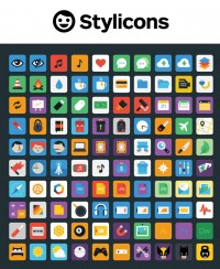 Stylicons – 100 Colourful Icons - FreebiesXpress