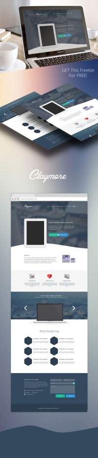 Claymore - App Landing Page - FreebiesXpress