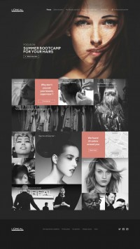loreal professionnel web design | Inspiration DE
