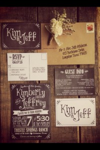 Chalkboard-style wedding invitations. Could be used | Inspiration DE