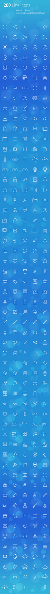 280 Line Icons on
