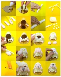 DIY Cute Sheep Cake Topper DIY Projects | UsefulDIY.com
