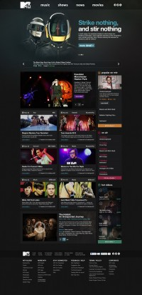 MTV.com Redesign on
