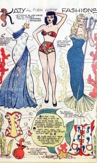 A Harem Of Peacocks (vintagegal: Katy Keene Fish Motif paper doll c....)