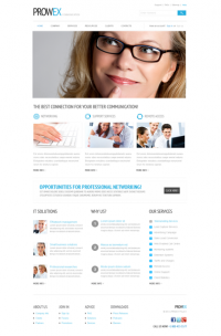 Prowex Communication - Download Free Website Templates - FilesGalaxy.com