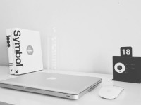 Minimalist Design Work Desk - Stock Photo - FreebiesXpress