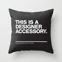 THIS IS A DESIGNER... Throw Pillow by WORDS BRAND™ | Society6