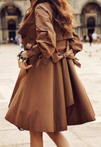 shego shopping mall — [grzxy6600198]OL Style Elegant Ruffle Brown Coat