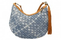 Checkered Woven Denim Saddle Bag | recycled denim challenge