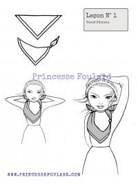 Noeud de foulard en anneau