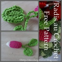 Botte de Radis pour sa Dinette - Crochet - Que Cache Ma Boite à Belette ?