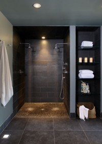 Bathroom basement - contemporary - bathroom - dc metro - by NF interiors