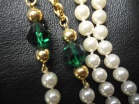 Elegant Emerald Green Rhinestone and Gold by ReVintageLannie